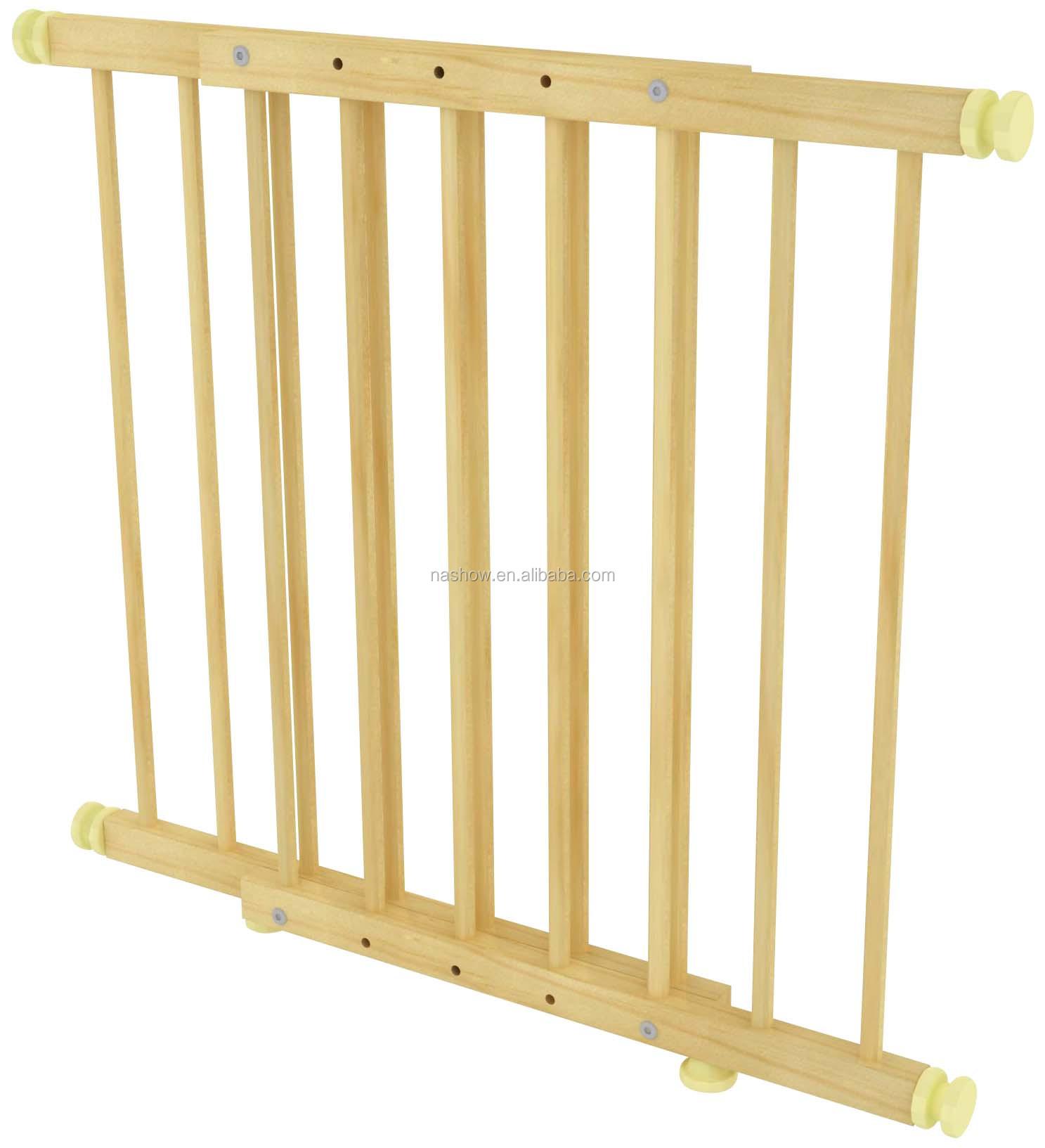 Cubby plan instelbare beveiliging deur houten kind en baby hek ...