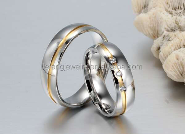 Dubai 18k Silver Rings CoupleImitation Crystal Jewelry Wedding Rings Uae