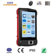 7inch industrial terminal rfid reader, fingerprint sensor, android smart phone 2d barcode scanner pdf417 module fingerprint