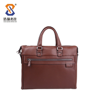 Hot sale fashion genuine men leather briefcase