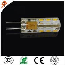 g4 led lamp High quality warm white led lamps 3014 smd 24leds 1.5w 12VDC G4 bulb