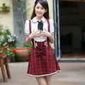moda corto mangas uniforme escolar japonés