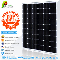 Powerwell Hot sale 150w solar panel price per watt connect to PV inverter for Chile market