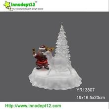 LED acrylic Christmas tree and santa & deer of Christmas decoration