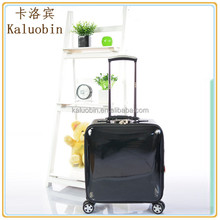 promotion on board flight waterproof pu material pu leather bag/laptop rolling case/trolley laptop bag