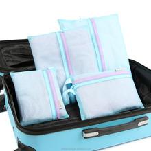 Colorful fashion mesh storage bag, colthing buggy bag