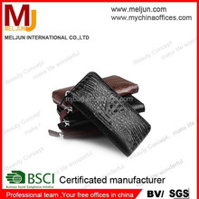 2015 high quality crocodile skin leather purse