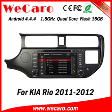 Wecaro WC-KU8047 Android 4.4.4 car multimedia system double din for kia rio car dvd audio system GPS 2011 2012