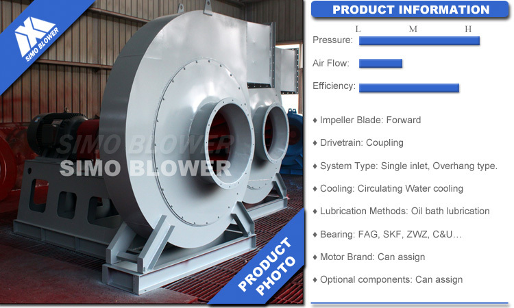 Flue Gas Blower : Abb motor high pressure furnace oven centrifugal blower