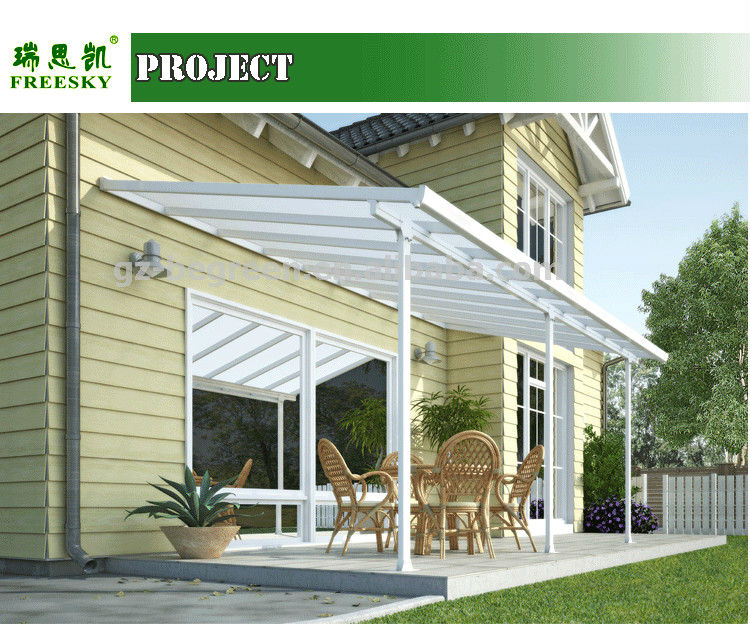 Easy installation polycarbonate patio cover aluminum pergola gazebo - Pergola alu polycarbonate ...
