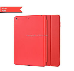 2015 New design Smart Sleep Wake Leather Case 3 Three Fold Stand Cover flip leather cover case for ipad 2 wholesale