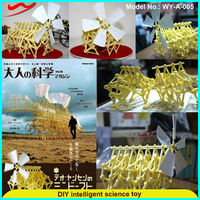Wind polypod bionic beasts /Innovative DIY intelligent science eco friendly science projects
