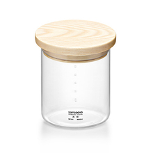 2014 Samadoyo High-end Glass Storage Pots/ Cans/ Jars with Wooden Lid 300ml to 1400ml