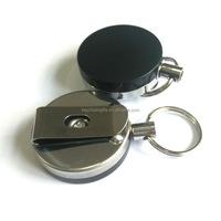 Wholesale cheap custom metal retractable keychain