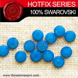 High Quality Swarovski Elements Caribbean Blue Opal (394) 16ss Crystal Iron On Hot Fix Rhinestone