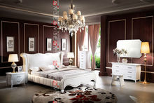 B9025 Classic bedroom set / italian bedroom sets luxury / mirrored bedroom sets furniture
