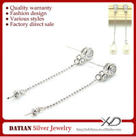 XD E073 925 Sterling Silver Stud Earring Post Pearl Components