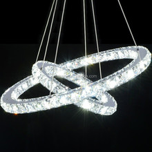 2015 new design crystal adjustable led ring bar pendant lamp