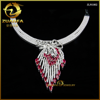 Brazil hot sale colored ruby 925 silver crystal chandelier pendant
