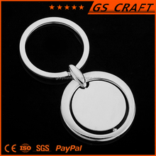 custom high quality plating metal key chain / fashion metal clock keychain /souvenirs key ring