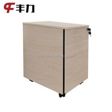 Office use under desk 3 drawer metal mobile filing cabinet