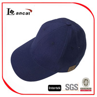 mens hot sale cotton navy adjustable baseball cap with pu tab