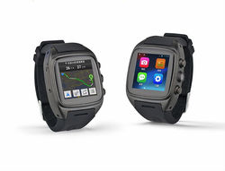 New 2015 X01 Android smart watch phone Quadband MTK2502 Android 4.0 Leather watch Smart phone