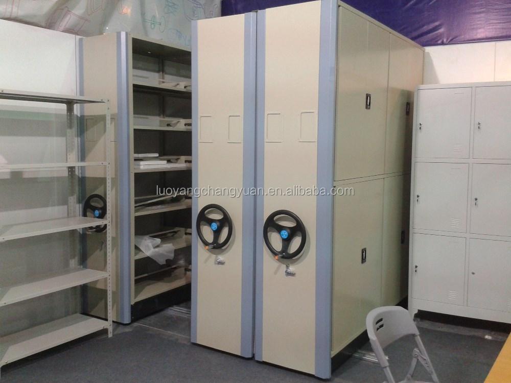 Professional Manufacturer Library Metal Movable Bookshelf