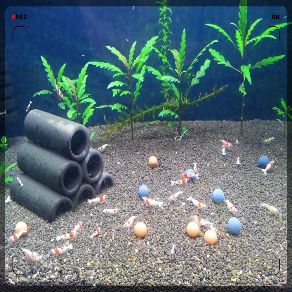 Aquarium cristal crevettes Tourmaline billes en c u00e9ramique min u00e9rale balles pour cristal crevettes