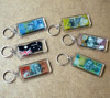 rectangle clear acrylic keychain from china