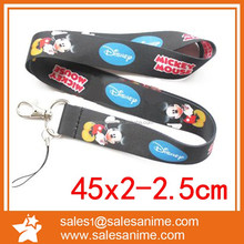 Classic Mickey mouse phone strap with hook, phone gift strap with custom printing