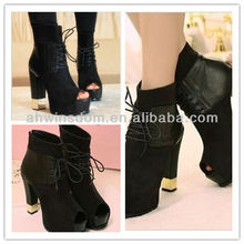 2013 EUROPEAN AND AMERICAN STYLE SEXY LACE ROMAN SHOES,FISH MOUTH THICK WITH HIGH-TOP SHOES