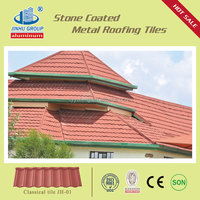 color stone coated metal italian roof tiles manufacturers ideal for building material