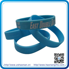 client logo transfer printing silicon wristband made in china for competition and alibaba custoer from gold supplier