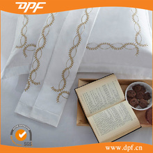 2015new higher quality 100% cotton wholesale hotel embroidered bedsheets