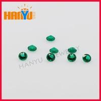 Wholesale Low Round Created Stone Emerald Stone Price Per Carat