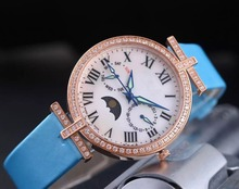 high quality grate female charm unique watch with moon phase dial