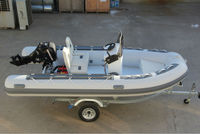 2015 PVC Inflatable RIB Boat 420 with CE