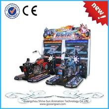 52 inch screen car driving simulator, racing car game steering wheel machine