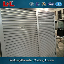 Singapore custom made powder coating fixed aluminium sunshade louvers for sales