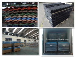 colorful stone chip coated steel roofing tiles.metal roof tile Factory