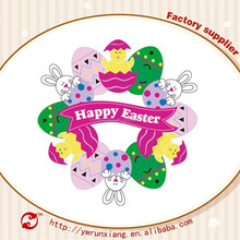 Fashion Design Paper Cut Easter Wreath Sticker Decorations