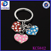2014 alibaba express colourful heart shaped high quality spots keychain