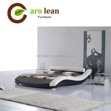 C302 High Quality King Size Synthetic Modern Leather Bed