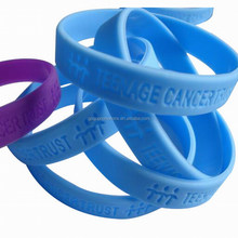 Promotional custom made silicone rubber wrist band,Made in China cheapest price silicone band for promotion