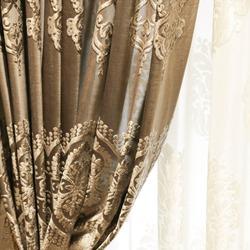 European-style flocked balckout curtain