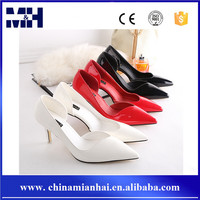 Sexy Women Shoes European Trend Pointed Toe PU Leather Ladies High Heels
