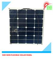 Yatch,camping,caravan use sunpower flexible solar panel 50W