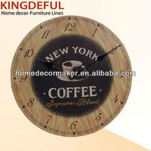 Antique Decorative Handmade MDF Material Wooden Wall Clock