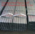 Rectangular / tubo cuadrado de acero / tubos sección hueca GALVANZIED / negro recocido
